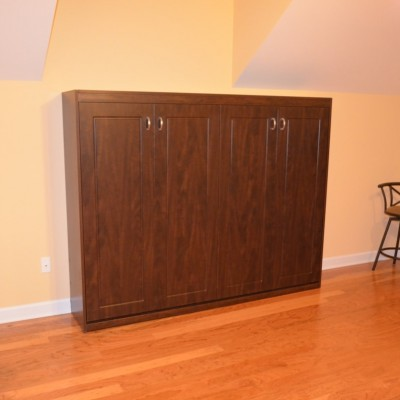 "Is it a four door cabinet?  Of course not.  But it is a great looking way to fit a lateral tilt wall bed under a ""knee wall"" in a bonus room."